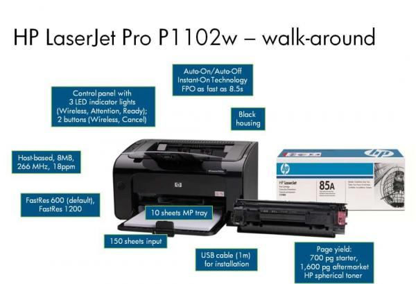 sewa Printer Laser HP 1102 B/W Wireless